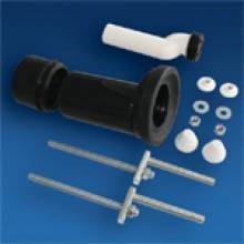 Produktbild: SANIT Wand-WC Etagen-Anschlussgarnitur DN 100