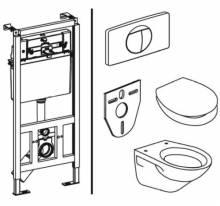 Produktbild: SANIT WC-Pack 995  M mit mittlerer  Revisionsöffnung    KOMPLETTPAKET