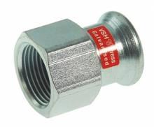 "Produktbild: C-Stahl Pressfittings Übergangsmuffe 270 G 15x1/2"" IG/IG (V-Kontur)"