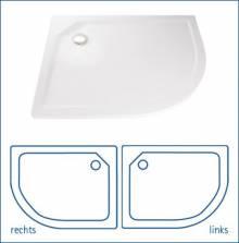 Produktbild: HSK Viertelkreis Acryl-Duschwanne 90 x 75 cm rechts  Höhe 3,5 cm  weiss