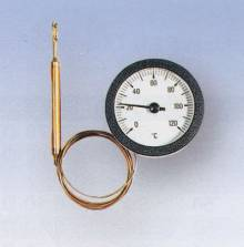 Produktbild: Fernthermometer TC 50/100  Ø 52,5 mm, Fühler Ø 6,5 x 30 mm, Kapillarrohr 1000 mm