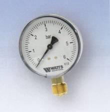 """Produktbild: RF-Manometer 50 radial MDR 50/10 1/4"""" 0 - 10 bar"""