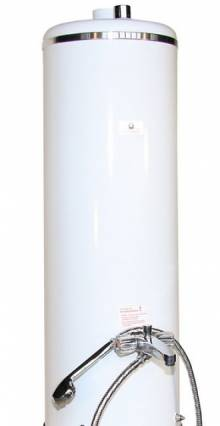 Produktbild: Badeofen Oberteil  braun  100 Liter mit Mischbatterie mit  intigrierten  RB