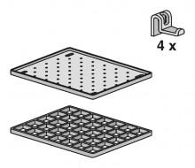Produktbild: Ablageset für MULITSET Funktionsbecken mit Schale, Rost, 4 Haken, anthrazit