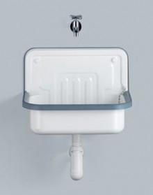 Produktbild: ALAPE Stahl-Ausgussbecken, ohne ÜL 505 x 330 mm, innen/außen glasiert, weiß