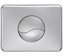Produktbild: Betätigungsplatte von  oben chrom matt  ( NMT, YIN YANG, Siamp)