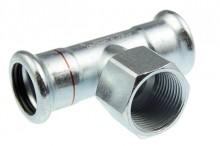 Produktbild: Seppelfricke  XPress C-Stahl T-Stück XPC 130 G d 15 x 1/2 IG x 15 M-Kontur