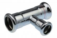 Produktbild: Seppelfricke XPress C-Stahl T-Stück XPC 130 R d 15 x 18 x 15 red. M-Kontur