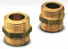 "Produktbild: DuoSolar Doppelnippel (2 Stück) für VA-Rohr 21,5mm DN 16, 3/4"""