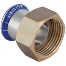 """Produktbild: GEBERIT MAPRESS Edelstahl Anschlussverschraubung d 15 mm x G 1 1/4"""", flachdichtend"""