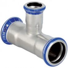 Produktbild: GEBERIT MAPRESS Edelstahl T-Stück reduziert d 18 x 15 x 18 mm
