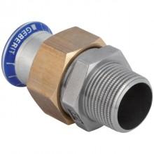 """Produktbild: GEBERIT  MAPRESS Edelstahl Übergangsverschraubung d 15 mm x 1/2"""" AG, flachdichtend"""