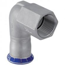 "Produktbild: GEBERIT MAPRESS Edelstahl Übergangswinkel 90° d 15 mm x 1/2"" IG"