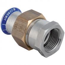 """Produktbild: GEBERIT  MAPRESS Edelstahl Übergangsverschraubung d 15 mm x 1/2"""" IG, flachdichtend"""