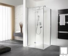 Produktbild: HSK Exklusiv Drehfalttür inkl. Seitenwand), Echtglas,  100 x 100 x 2000 Sonderpreis