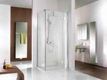 Produktbild: HSK Duschkabine Premium Softcube DREHTÜR (für Seitenwand), Echtglas, Chromoptik, Breite 75 - Türseite Links