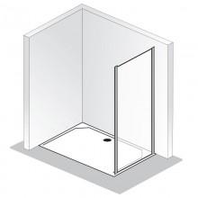 Produktbild: HSK Duschkabine Solida Seitenwand (passend zur 2-teiligen Gleittür) bodenfrei, Echtglas, Alu silber-matt - Breite 75
