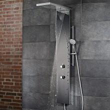 Produktbild: HSK Duschpaneel Lavida Plus, mit Schwallfunktion 2.220 x 250 x 86 mm  Schwarz