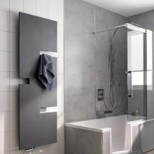 Produktbild: HSK Juke  Badheizkörper 606 × 1.226   Graphit-Schwarz  mit Mittelanschluss