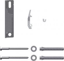 4 Stück Kermi Schnellmontagekonsolen Set für Typ 11-33 Bauhöhe 554 mm weiss
