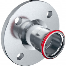 Produktbild: MAPRESS C-Stahl Flansch PN 10/16 d 22 mm, mit Pressmuffe