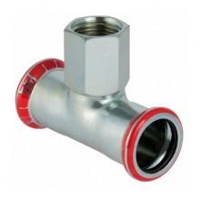 "Produktbild: MAPRESS C-Stahl T-Stück mit IG 15 mm x 1/2"" IG x 15 mm, verzinkt"