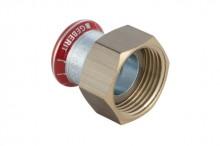 "Produktbild: MAPRESS C-Stahl Übergang 15mm x 3/4"", verzinkt, ÜM, flachdichtend"