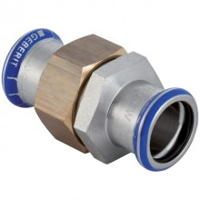 Produktbild: GEBERIT MAPRESS Edelstahl Verschraubung d 15 mm, flachdichtend