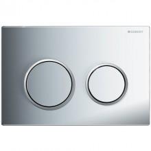 Produktbild: OMEGA 20 Betätigungsplatte für 2-Mengen-Spülung, weiß/glanzchrom