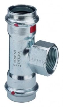 Produktbild: Viega PRESTABO  T-Stück C-Stahl 1117.2 42x1/2x42 mm IG