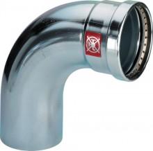 Produktbild: Viega PRESTABO XL-Bogen 90° C-Stahl  1116.1XL  64 mm IG/AG