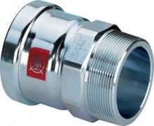 "Produktbild: PRESTABO XL-Übergangsstück AG, 1111XL 88,9 mm x 3"", mit Mehrkant,"