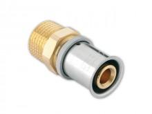 "Produktbild: ROTH Messing Übergangsnippel 14  mm 1/2"" AG, inkl.  Presshülse"
