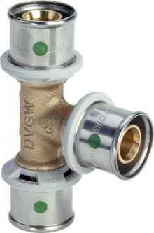 Produktbild: Viega SANFIX P T-Stück 2118 16 mm Rotguss