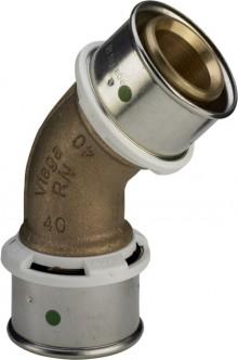 Produktbild: Viega SANFIX P Winkelkupplung, 45° 2126 25 mm, Rotguss