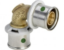 Produktbild: Viega SANFIX P Winkelkupplung, 90° 2116 16 mm, Rotguss