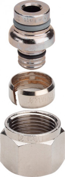 Produktbild: SANFIX Verschraubung für Fosta-Rohr 16 mm, Eurokonus, matt vernickelt