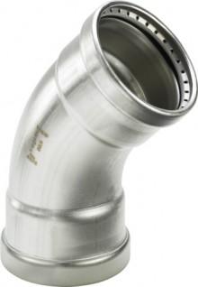 Produktbild: Viega  SANPRESS INOX Bogen Edelstahl 45° 2326XL 76,1 mm, innen/innen