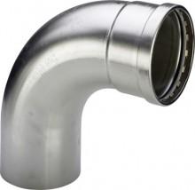 Produktbild: SANPRESS INOX Bogen Edelstahl 90° 2316.1 88,9 mm, innen/außen