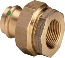 "Produktbild: SANPRESS Isolierverschraubung 2267 RG 15 mm x 1/2"", m.Gew-St. vz Stahl"