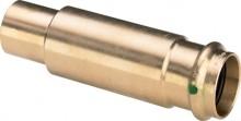 Produktbild: SANPRESS Schiebemuffe Rotguss 2215.4 22 mm, mit SC-Contur