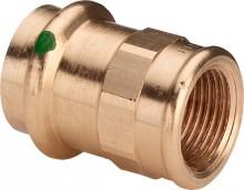 "Produktbild: SANPRESS Übergangsstück Rotguss 2212 15 mm x 3/8"" IG"