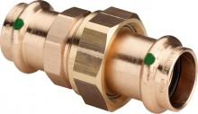 Produktbild: SANPRESS Verschraubung Rotguss 2260 15 mm flachdichtend