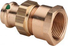"""Produktbild: SANPRESS Verschraubung Rotguss 2262 15 mm x 1/2"""" IG flachdichtend"""