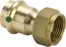 """Produktbild: SANPRESS Verschraubung Rotguss 2263 15 mm x 1/2"""" IG flachdichtend"""