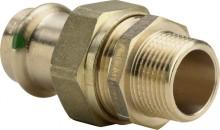 """Produktbild: SANPRESS Verschraubung Rotguss 2265 15 mm x 1/2"""" AG flachdichtend"""