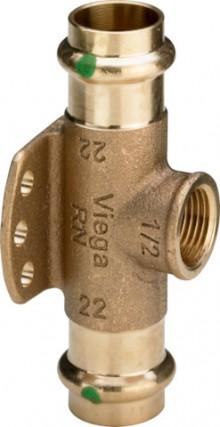 """Produktbild: SANPRESS Wandscheiben-T-Stück 2217.3 RG 15 mm x 1/2"""" IG x 15 mm"""