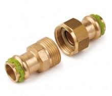 Produktbild: SudoPress-Rotguss Verschraubung flachdichtend VC330 15 mm (V-Kontur)