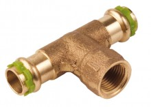 Produktbild: SudoPress Rotguss T-Stück VC130G 15x1/2x15 mm IG mm (V-Kontur)