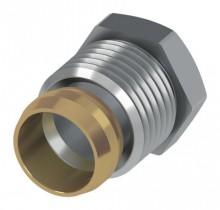"""Produktbild: TECEflex Quetschverschraubung EN 215 15 mm x 1/2"""" AG vernickelt"""